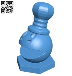 King – pacman chess B007074 file stl free download 3D Model for CNC and 3d printer