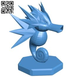 Knight Seadra – pokemon B006764 file stl free download 3D Model for CNC and 3d printer