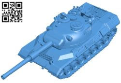 Leopard tank B006654 file stl free download 3D Model for CNC and 3d printer