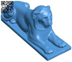 Lion B006652 file stl free download 3D Model for CNC and 3d printer