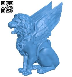 Lions have wings B007043 file stl free download 3D Model for CNC and 3d printer