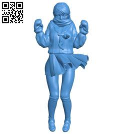 Little girl student B007078 file stl free download 3D Model for CNC and 3d printer