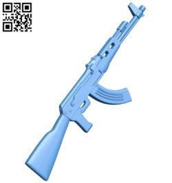 Machine gun ak B006985 file stl free download 3D Model for CNC and 3d printer