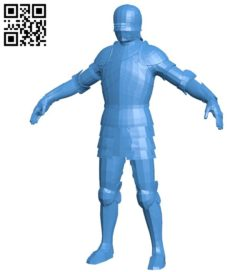 Male knight B006713 file stl free download 3D Model for CNC and 3d printer
