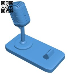 Microphone Phone Stand B006958 file stl free download 3D Model for CNC and 3d printer