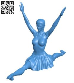 Miss Ballet Dancer B006949 file stl free download 3D Model for CNC and 3d printer