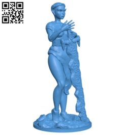Miss Elf Warrior B007084 file stl free download 3D Model for CNC and 3d printer