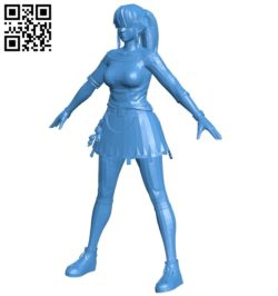 Miss Hitomi B007011 file stl free download 3D Model for CNC and 3d printer