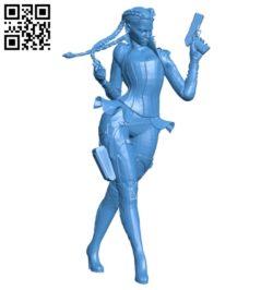 Miss Loba B007041 file stl free download 3D Model for CNC and 3d printer