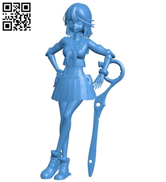 Miss Ryuko B006989 file stl free download 3D Model for CNC and 3d printer