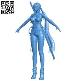 Miss Saki B007016 file stl free download 3D Model for CNC and 3d printer