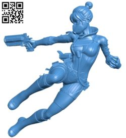 Miss Wraith B007009 file stl free download 3D Model for CNC and 3d printer