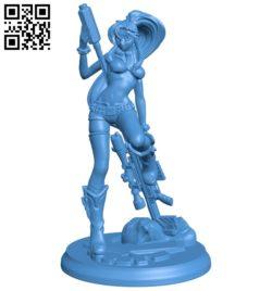 Miss Yoko B007031 file stl free download 3D Model for CNC and 3d printer