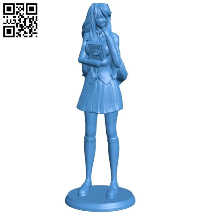Miss Yuri B006981 file stl free download 3D Model for CNC and 3d printer