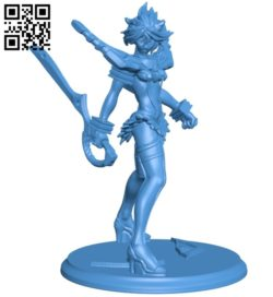 Miss ryuko B006959 file stl free download 3D Model for CNC and 3d printer