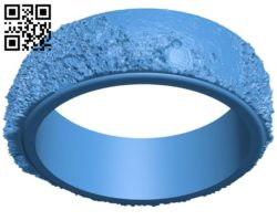 Moon ring B006828 file stl free download 3D Model for CNC and 3d printer