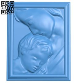 Mother and child picture A004620 download free stl files 3d model for CNC wood carving