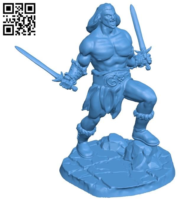 Mr Barbarian B006965 file stl free download 3D Model for CNC and 3d printer