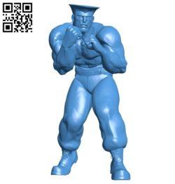 Mr Guile B006864 file stl free download 3D Model for CNC and 3d printer