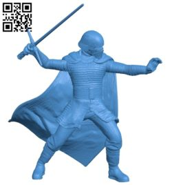 Mr Kylo Ren B007099 file stl free download 3D Model for CNC and 3d printer