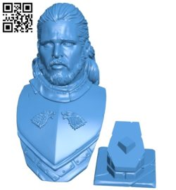 Mr jon snow base B007051 file stl free download 3D Model for CNC and 3d printer