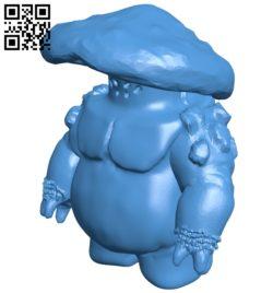 Mushroom warrior B006972 file stl free download 3D Model for CNC and 3d printer