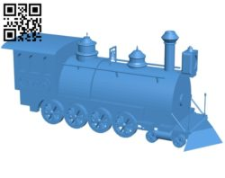 Old train B006891 file stl free download 3D Model for CNC and 3d printer