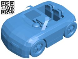 Orange car B006796 file stl free download 3D Model for CNC and 3d printer