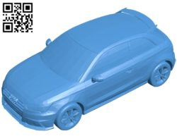 Oto Audi S1 car B006930 file stl free download 3D Model for CNC and 3d printer