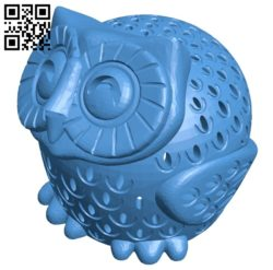 Owl light B006863 file stl free download 3D Model for CNC and 3d printer