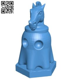 Pac Ghost Horse – pacman chess B007067 file stl free download 3D Model for CNC and 3d printer