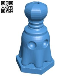 Pac Ghost King – pacman chess B007068 file stl free download 3D Model for CNC and 3d printer