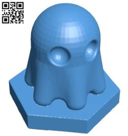 Pac Ghost Pawn – pacman chess B007069 file stl free download 3D Model for CNC and 3d printer