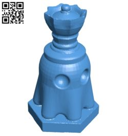 Pac Ghost Queen – pacman chess B007070 file stl free download 3D Model for CNC and 3d printer