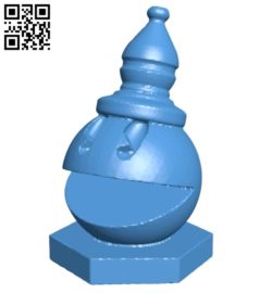 Pac Man Bishop – pacman chess B007072 file stl free download 3D Model for CNC and 3d printer