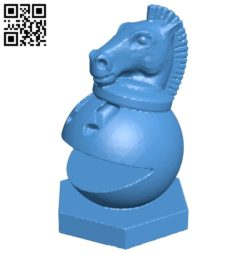 Pac Man Horse – pacman chess B007073 file stl free download 3D Model for CNC and 3d printer