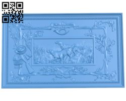 Panel Hunting A004597 download free stl files 3d model for CNC wood carving