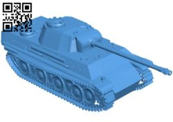 Panzer tank B006695 file stl free download 3D Model for CNC and 3d printer