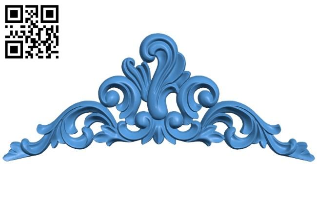 Pattern dekor design A004657 download free stl files 3d model for CNC wood carving