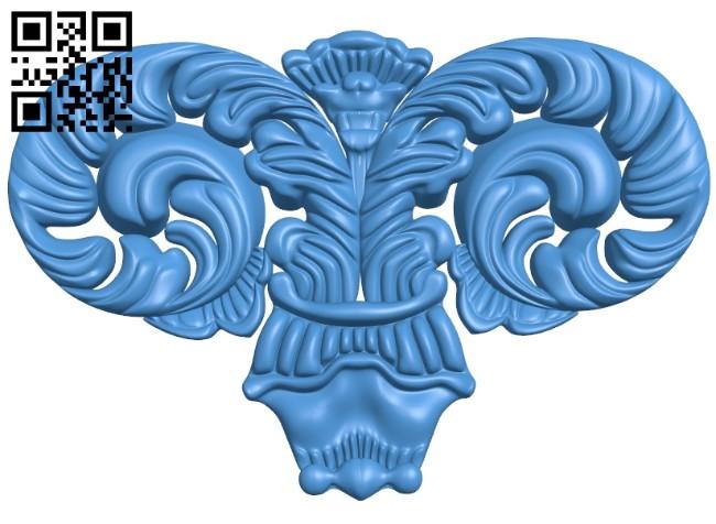 Pattern dekor design A004670 download free stl files 3d model for CNC wood carving