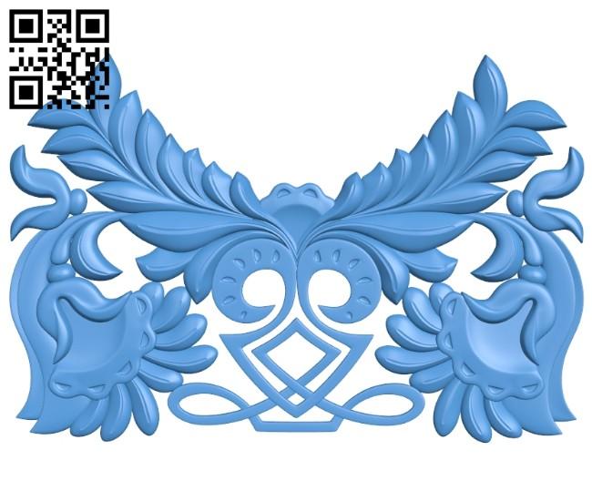 Pattern dekor design A004671 download free stl files 3d model for CNC wood carving