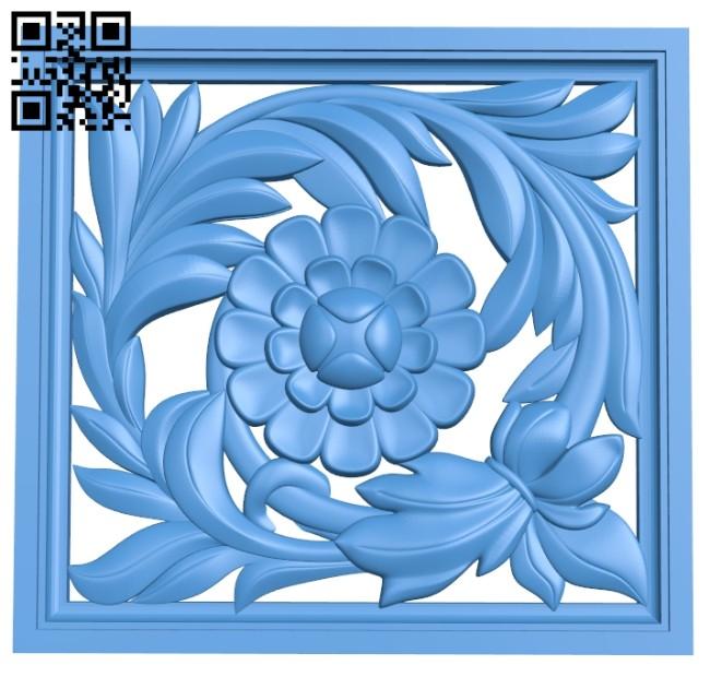 Pattern dekor square A004720 download free stl files 3d model for CNC wood carving