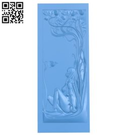 Pattern of EVA-shaped door A004715 download free stl files 3d model for CNC wood carving
