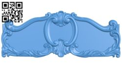 Pattern of the bed frame A004677 download free stl files 3d model for CNC wood carving