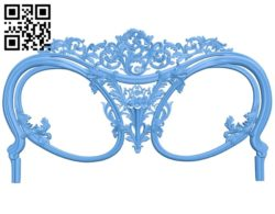Pattern of the bed frame A004727 download free stl files 3d model for CNC wood carving