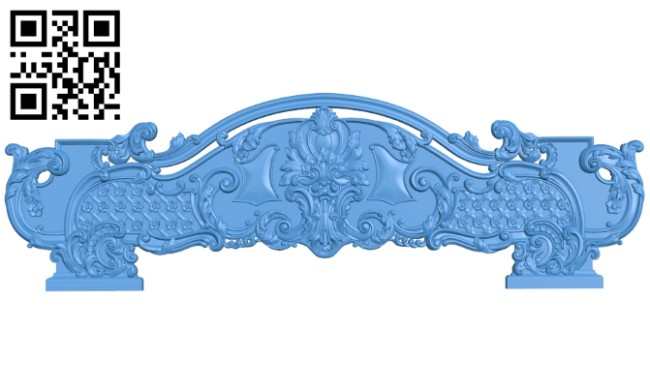 Pattern of the bed frame A004728 download free stl files 3d model for CNC wood carving