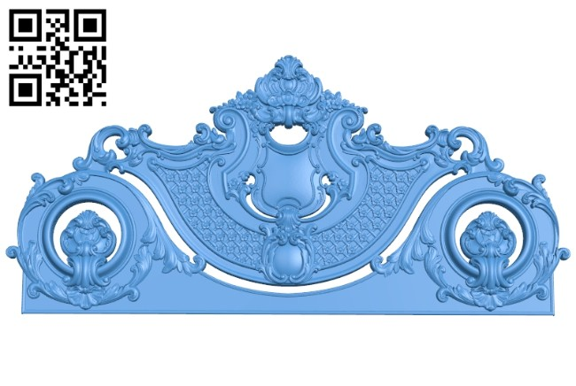 Pattern of the bed frame A004729 download free stl files 3d model for CNC wood carving