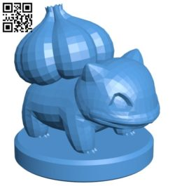 Pawn Bulbasaur – pokemon B006765 file stl free download 3D Model for CNC and 3d printer