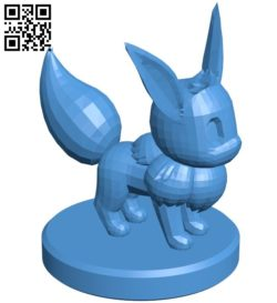Pawn Eevee – pokemon B006769 file stl free download 3D Model for CNC and 3d printer