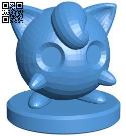 Pawn Jigglypuff – pokemon B006770 file stl free download 3D Model for CNC and 3d printer